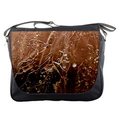 Ice Iced Structure Frozen Frost Messenger Bags by Amaryn4rt