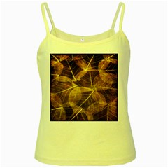 Leaves Autumn Texture Brown Yellow Spaghetti Tank by Amaryn4rt