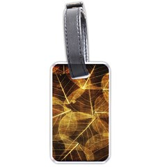 Leaves Autumn Texture Brown Luggage Tags (one Side)  by Amaryn4rt