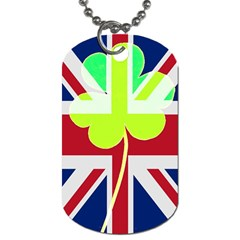 Irish British Shamrock United Kingdom Ireland Funny St  Patrick Flag Dog Tag (one Side)