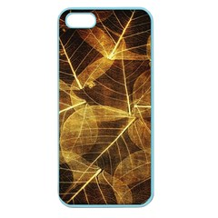Leaves Autumn Texture Brown Apple Seamless Iphone 5 Case (color) by Amaryn4rt