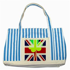 Irish British Shamrock United Kingdom Ireland Funny St  Patrick Flag Striped Blue Tote Bag