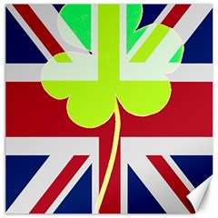 Irish British Shamrock United Kingdom Ireland Funny St  Patrick Flag Canvas 12  X 12   by yoursparklingshop