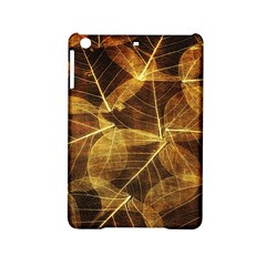 Leaves Autumn Texture Brown Ipad Mini 2 Hardshell Cases by Amaryn4rt