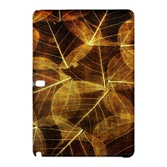 Leaves Autumn Texture Brown Samsung Galaxy Tab Pro 12 2 Hardshell Case by Amaryn4rt