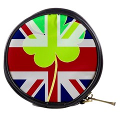 Irish British Shamrock United Kingdom Ireland Funny St  Patrick Flag Mini Makeup Bags