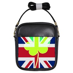 Irish British Shamrock United Kingdom Ireland Funny St  Patrick Flag Girls Sling Bags
