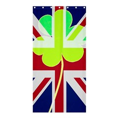 Irish British Shamrock United Kingdom Ireland Funny St  Patrick Flag Shower Curtain 36  X 72  (stall)