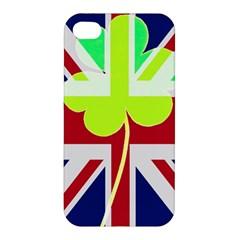 Irish British Shamrock United Kingdom Ireland Funny St  Patrick Flag Apple Iphone 4/4s Hardshell Case
