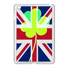 Irish British Shamrock United Kingdom Ireland Funny St  Patrick Flag Apple Ipad Mini Case (white)