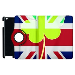Irish British Shamrock United Kingdom Ireland Funny St  Patrick Flag Apple Ipad 2 Flip 360 Case