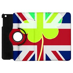 Irish British Shamrock United Kingdom Ireland Funny St  Patrick Flag Apple Ipad Mini Flip 360 Case