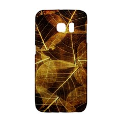 Leaves Autumn Texture Brown Galaxy S6 Edge by Amaryn4rt