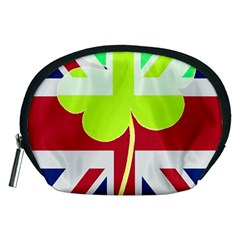 Irish British Shamrock United Kingdom Ireland Funny St  Patrick Flag Accessory Pouches (medium)