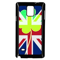 Irish British Shamrock United Kingdom Ireland Funny St  Patrick Flag Samsung Galaxy Note 4 Case (black)