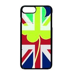 Irish British Shamrock United Kingdom Ireland Funny St  Patrick Flag Apple Iphone 7 Plus Seamless Case (black)