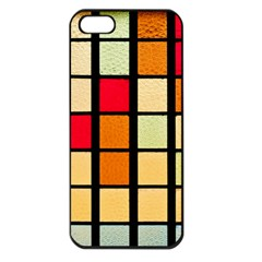 Mozaico Colors Glass Church Color Apple Iphone 5 Seamless Case (black) by Amaryn4rt