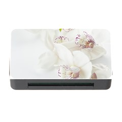 Orchids Flowers White Background Memory Card Reader With Cf by Amaryn4rt
