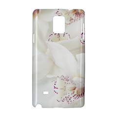 Orchids Flowers White Background Samsung Galaxy Note 4 Hardshell Case by Amaryn4rt