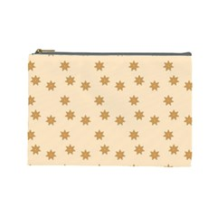 Pattern Gingerbread Star Cosmetic Bag (large)  by Amaryn4rt