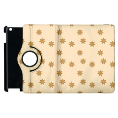 Pattern Gingerbread Star Apple Ipad 2 Flip 360 Case by Amaryn4rt