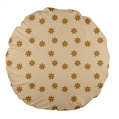 Pattern Gingerbread Star Large 18  Premium Round Cushions by Amaryn4rt