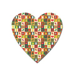 Pattern Christmas Patterns Heart Magnet by Amaryn4rt
