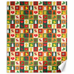 Pattern Christmas Patterns Canvas 8  X 10  by Amaryn4rt