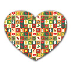 Pattern Christmas Patterns Heart Mousepads by Amaryn4rt