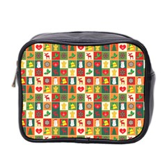 Pattern Christmas Patterns Mini Toiletries Bag 2 Side
