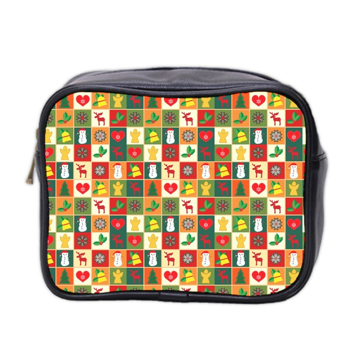 Pattern Christmas Patterns Mini Toiletries Bag 2-Side