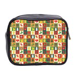 Pattern Christmas Patterns Mini Toiletries Bag 2-Side Back