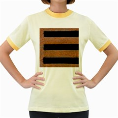 Stainless Rust Texture Background Women s Fitted Ringer T Shirts by Amaryn4rt