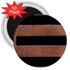 Stainless Rust Texture Background 3  Magnets (10 Pack)  by Amaryn4rt