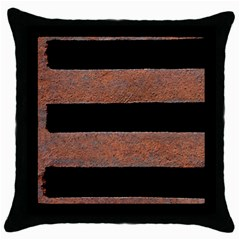 Stainless Rust Texture Background Throw Pillow Case (black) by Amaryn4rt