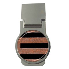 Stainless Rust Texture Background Money Clips (round)  by Amaryn4rt