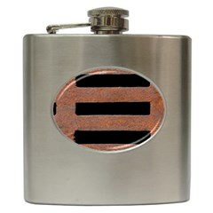 Stainless Rust Texture Background Hip Flask (6 oz) by Amaryn4rt