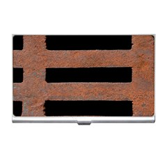 Stainless Rust Texture Background Business Card Holders by Amaryn4rt
