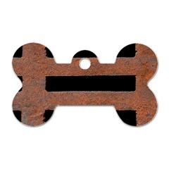 Stainless Rust Texture Background Dog Tag Bone (two Sides) by Amaryn4rt