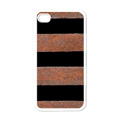 Stainless Rust Texture Background Apple Iphone 4 Case (white) by Amaryn4rt
