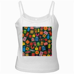 Presents Gifts Background Colorful White Spaghetti Tank by Amaryn4rt