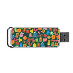 Presents Gifts Background Colorful Portable Usb Flash (one Side) by Amaryn4rt