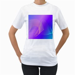 Vector Blend Screen Saver Colorful Women s T Shirt (white) (two Sided) by Amaryn4rt