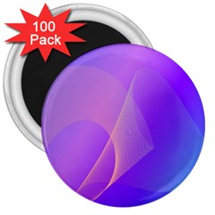 Vector Blend Screen Saver Colorful 3  Magnets (100 Pack) by Amaryn4rt