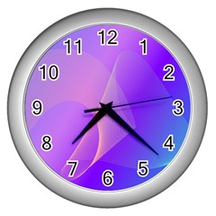 Vector Blend Screen Saver Colorful Wall Clocks (silver)  by Amaryn4rt