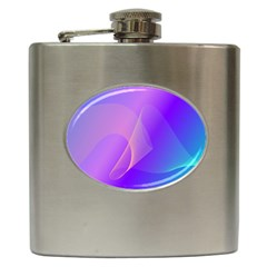 Vector Blend Screen Saver Colorful Hip Flask (6 Oz) by Amaryn4rt