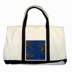 Poplar Foliage Yellow Sky Blue Two Tone Tote Bag by Amaryn4rt
