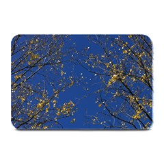 Poplar Foliage Yellow Sky Blue Plate Mats by Amaryn4rt