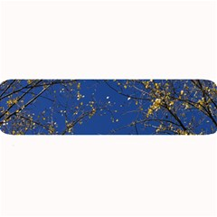 Poplar Foliage Yellow Sky Blue Large Bar Mats by Amaryn4rt