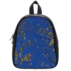 Poplar Foliage Yellow Sky Blue School Bags (small)  by Amaryn4rt